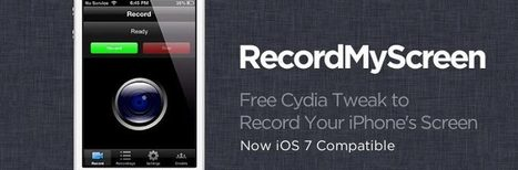 How to Record the iPhone Screen in iOS 7: RecordMyScreen Cydia Tweak | Iphone Apps | Scoop.it