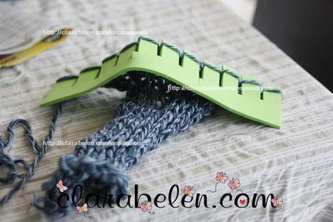 Cómo hacer tejedoras caseras de goma eva o foami para los niños | Teje-Lola | Scoop.it