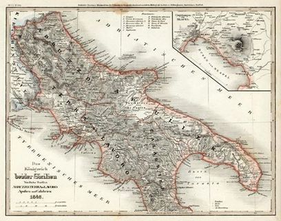 Antica cartina Regno di Sicilia mappa... - Campli fotografie | Facebook | mappe storiche | Scoop.it