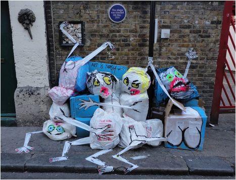 Street art: il donne vie à des monstres grâce aux ordures trouvées dans la rue - Rue89 | Dessous de mode | Scoop.it