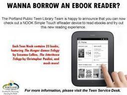 Hey teens, wanna borrow aNOOK? | School Librarians and Leadership Roles | Scoop.it