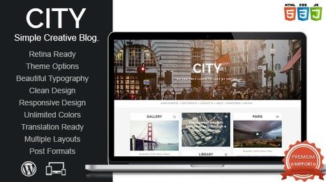 City v1.0 – Mojothemes Retina Responsive Creative Blog - Nulled WP | Wordpress Themes | Scoop.it