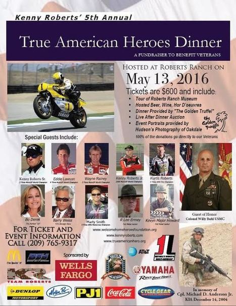 » Yamaha Once Again Sponsors True American Heroes Weekend Hosted By Kenny Roberts; Donates Bolt C-Spec Motorcycle To Benefit Auction | California Flat Track Association (CFTA) | Scoop.it