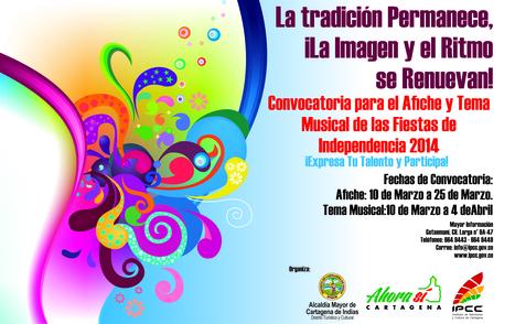 IPCC abre convocatoria para escoger la canción y el afiche oficial de las Fiestas de la Independencia 2014   Cartagena de Indias - 5º edición de boletín semanal   Scoop.it