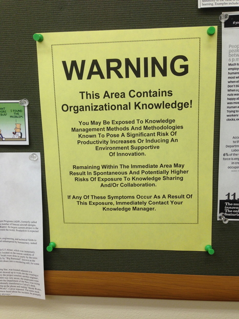 Warning Signage for Knowledge Management!   ITYPA   Scoop.it