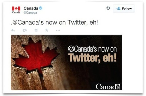 Sorry, @Canada is now on #Twitter   MarketingHits   Scoop.it