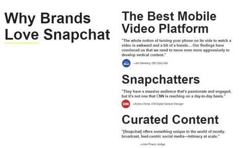 12 valuable marketing lessons from Snapchat's success | ClickZ | Digital Marketing Strategy | Scoop.it
