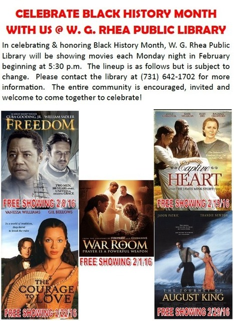 Celebrate Black History Month @ W.G. Rhea Library Public Library - Paris Henry County | Tennessee Libraries | Scoop.it
