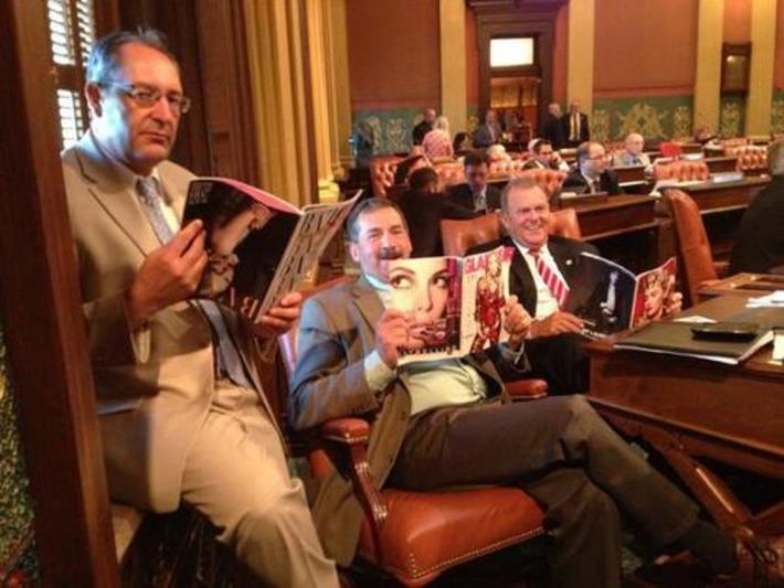 Michigan GOP Members Make Fun of Women by Pretending to Read Fashion Magazines | Herstory | Scoop.it