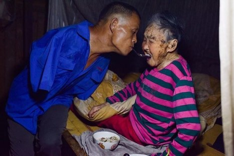 Humanity at its finest. A man who lost both of his arms, cares for his elderly mother. | This Gives Me Hope | Scoop.it