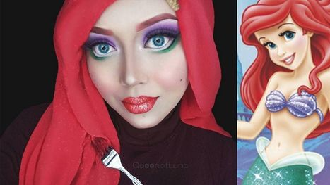 Meet The Makeup Artist Who Uses Her Hijab To Morph Into Disney Princesses | Art Education in Alternative Settings | Scoop.it