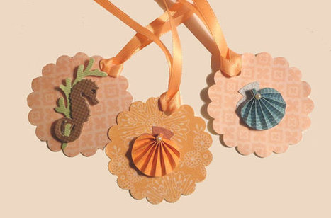 Beach gift tags favor labels seahorse 3D scallop shells paper hang tags by ilPiccoloGiardino | Wedding Photography | Scoop.it