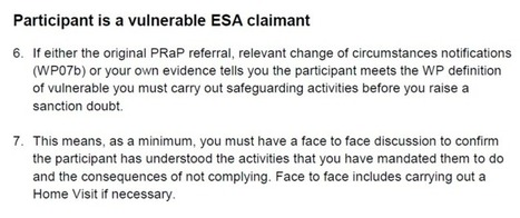 Important Information: DWP Finally Admits To ESA Sanction Safeguarding Policy | Welfare, Disability, Politics and People's Right's | Scoop.it