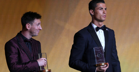 The beautiful moment: Ronaldo's young son starstruck by Messi at Ballon d'Or | Miscellaneous | Scoop.it