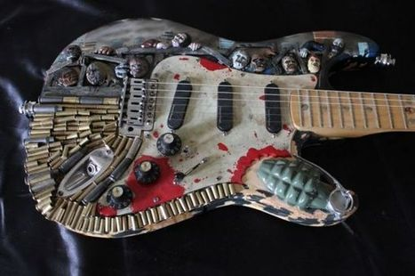 Zombie Apocalypse Guitar | Geek On | Scoop.it