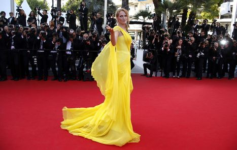 Uma Thurman wows the crowds at Cannes in Versace | FASHION-BEAUTY-CLOTHES-GIRL | Scoop.it