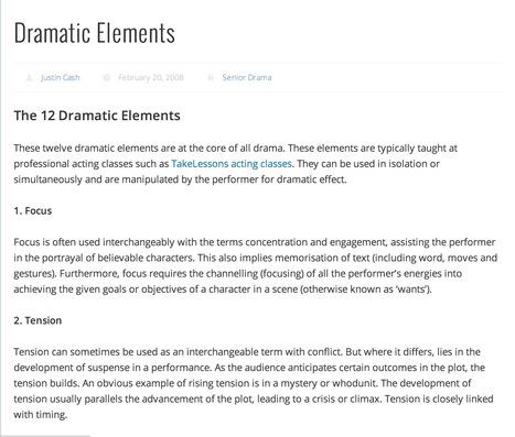 Dramatic Elements | Drama | Scoop.it