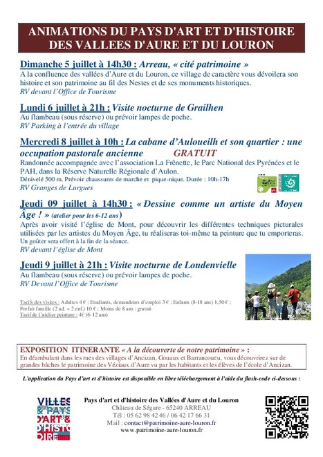 Visite nocturne de Grailhen le 6 juillet - Animations du Pays d'Art et d'Histoire des vallées d'Aure et du Louron | Vallée d'Aure - Pyrénées | Scoop.it