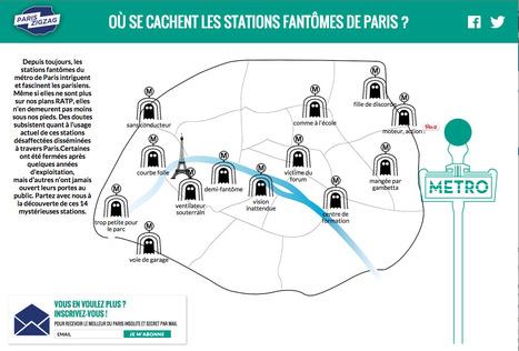 Où se cachent les stations fantômes de Paris ? | Les cartes de Paris Zig Zag | Bouche à Oreille | Scoop.it