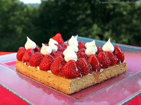 Tarte aux fraises et sa chantilly au mascarpone   Recettes de cuisine de Meilleur du Chef   Scoop.it