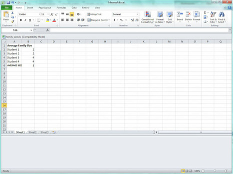 Excel Activity for ESOL or Basic Skills Classroom | Edtech PK-12 | Scoop.it