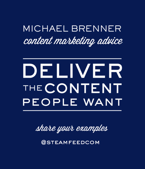 Content Marketing Advice from @BrennerMichael, Head of Strategy at NewsCred | Content marketing and management. | Scoop.it