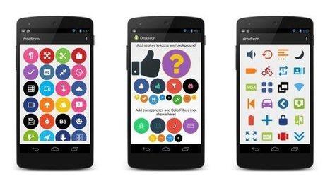 Droidicon, plus de 1600 icônes personnalisables | Outils | Scoop.it