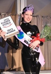Psylocke Crowned 2013 Miss Rubber World | rubber fetish news | Scoop.it