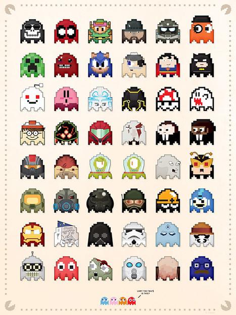 Custom Pac-Man Ghosts | All Geeks | Scoop.it