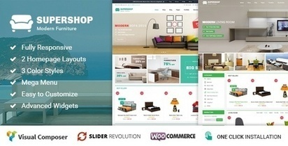 Supershop Responsive WooCommerce WordPress Theme | Collection of creative themes and templates. | Scoop.it