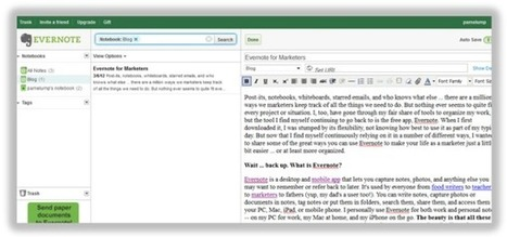 How Marketers Can Use Evernote to Organize and Simplify Their Lives | Ipad@Evernote | Scoop.it