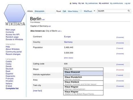 Wikidata, la base de datos que podrán leer humanos y máquinas.-   Amigo de Cervantes Japón y España   Scoop.it