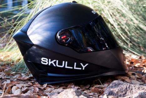 Skully demonstrates GPS, rear-view camera in motorcycle helmet | Moto Riding Gear | Scoop.it