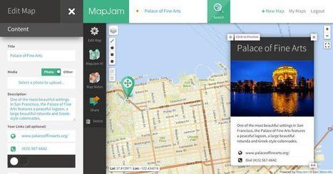 MapJam. Créer des cartes personnalisées | TUICE_Université_Secondaire | Scoop.it