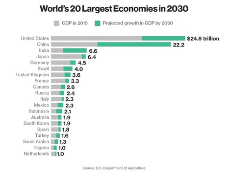 These Will Bethe World's 20 Largest Economies in 2030 | Bloomberg | Emerging Markets by I&S Lab | Scoop.it