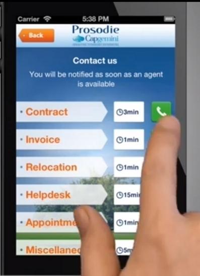 Prosodie-Capgemini sort une solution de service client pour mobile | SSII et ESN | Scoop.it