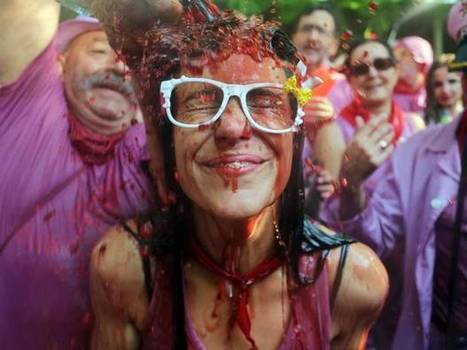 In pictures: Spanish town soaked with wine in the annual 'Batalla de Vino ... - The Independent | The pick of the best wine stories from social media and across the 'net | Scoop.it