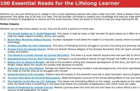 100 Essential Reads for the Lifelong Learner | Epic Awesomeness | Scoop.it
