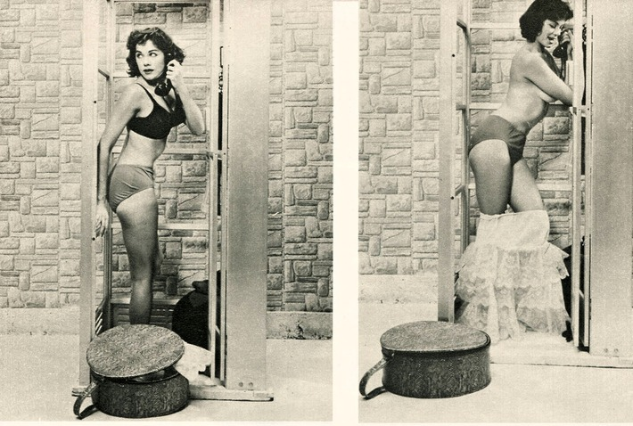 Vintage: Stripping Down to Her Lingerie in the Phone Booth | Sex History | Scoop.it