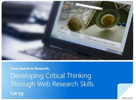 Developing Critical Thinking Through Web Search... | Personal Knowledge Management | Scoop.it