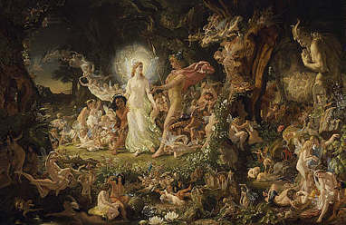 The Quarrel of Oberon and Titania −        Sir Joseph Noel Paton | Danny's A Midsummer Night's Dream | Scoop.it