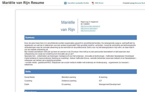Turn your LinkedIn Profile into a Resume | Resume Builder | Leer-netwerk | Scoop.it