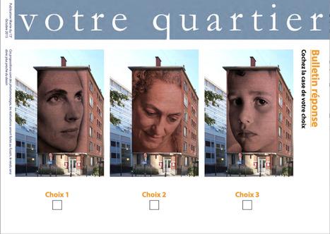 """""""Street Art 13 Une oeuvre ÉPHÉMÈRE au 47 rue National Faites votre choix ! Jusqu'au 18 octobre   Le BONHEUR comme indice d'épanouissement social et économique.   Scoop.it"""