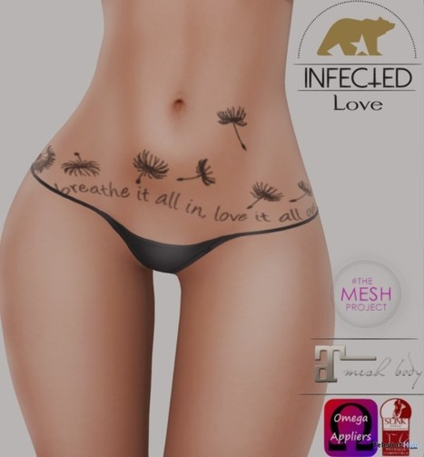 Love Belly Tattoo with Mesh Body Appliers Group Gift by InfecteD | Teleport Hub - Second Life Freebies | Second Life Freebies | Scoop.it