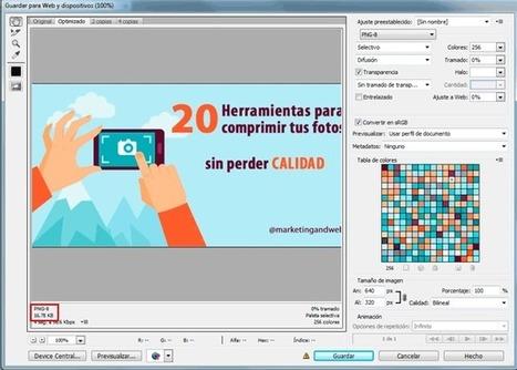 20 herramientas para reducir el tamaño y comprimir fotos | Noticias de Marketing Online - Marketing and Web | Scoop.it