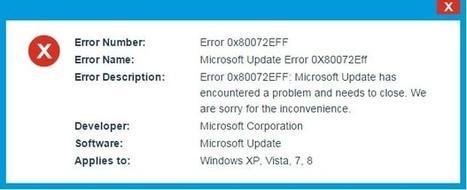Steps to fix Microsoft Update Error 0x80072EFF - Fix PC Errors | Fix PC Error | Scoop.it