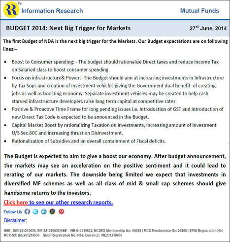 BUDGET 2014: Next Big Trigger for Markets | Online Share Trading | Stock Broking Company | Scoop.it