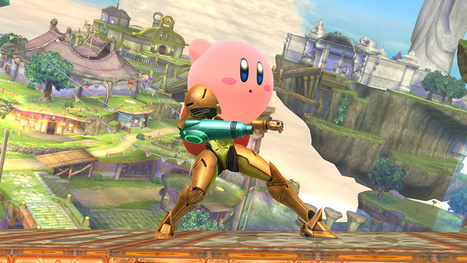 Kirby is acting like a face-hugger on top of poor Samus in Masahiro Sakurai's latest Smash Bros scre | Jeux de roles | Scoop.it