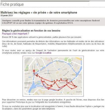 Article du jour (127) : CNIL - maîtrisez les réglages de votre smartphone | Au hasard | Scoop.it