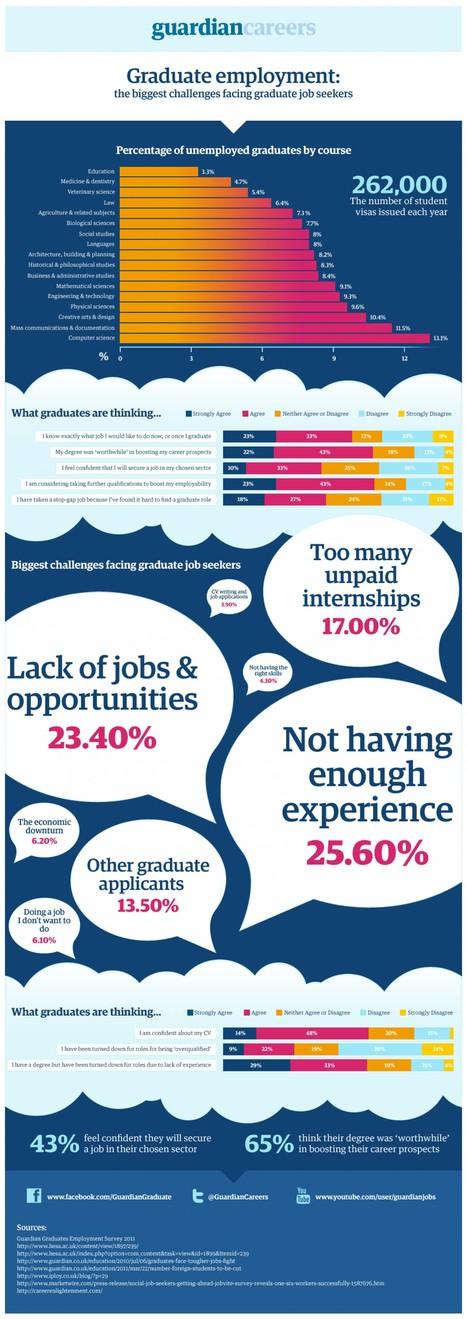 The Biggest Challenges Facing Graduate Job Seekers | Infographics | Scoop.it
